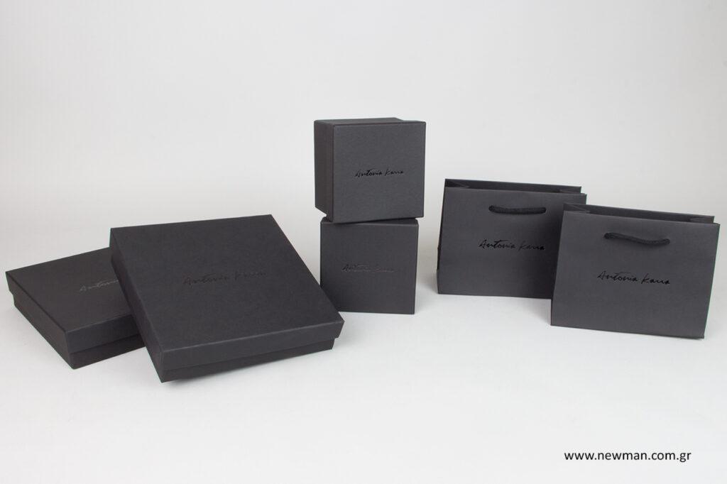 Είδη συσκευασίας κοσμημάτων με εκτύπωση λογότυπου by Newman.