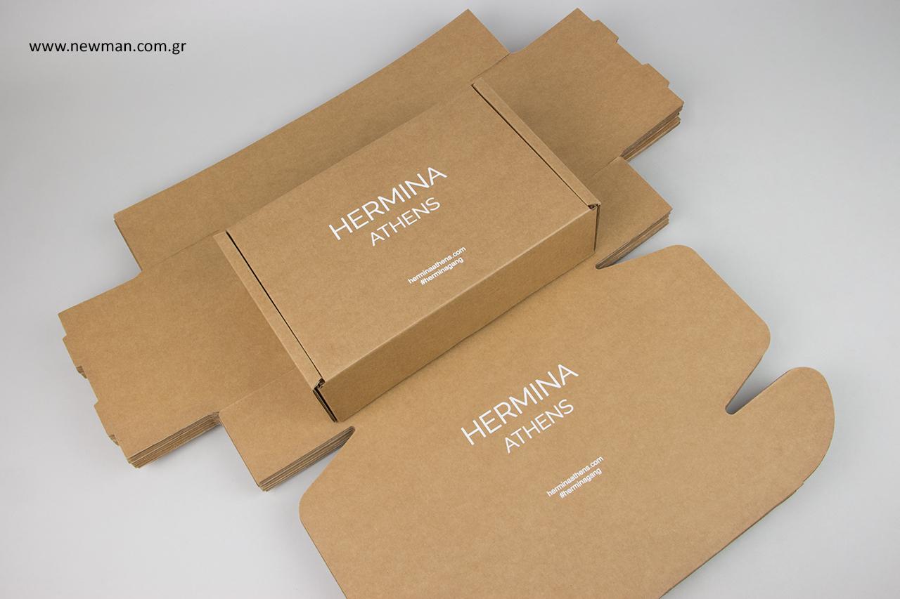 Τυπωμένα κουτιά ταχυδρόμησης με μεταξοτυπία.