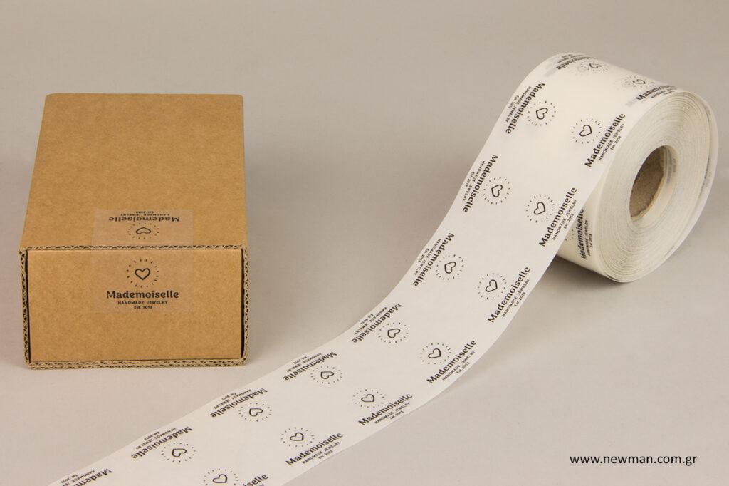 Διάφανες ετικέτες με εκτύπωση λογότυπου - Newman