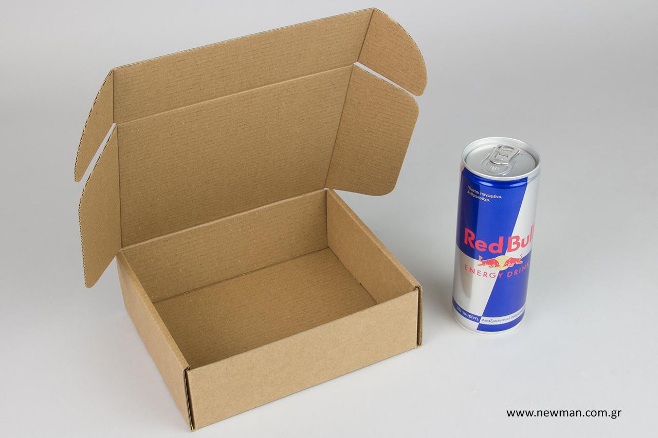 Κουτί αποστολών κούριερ Red Bull.