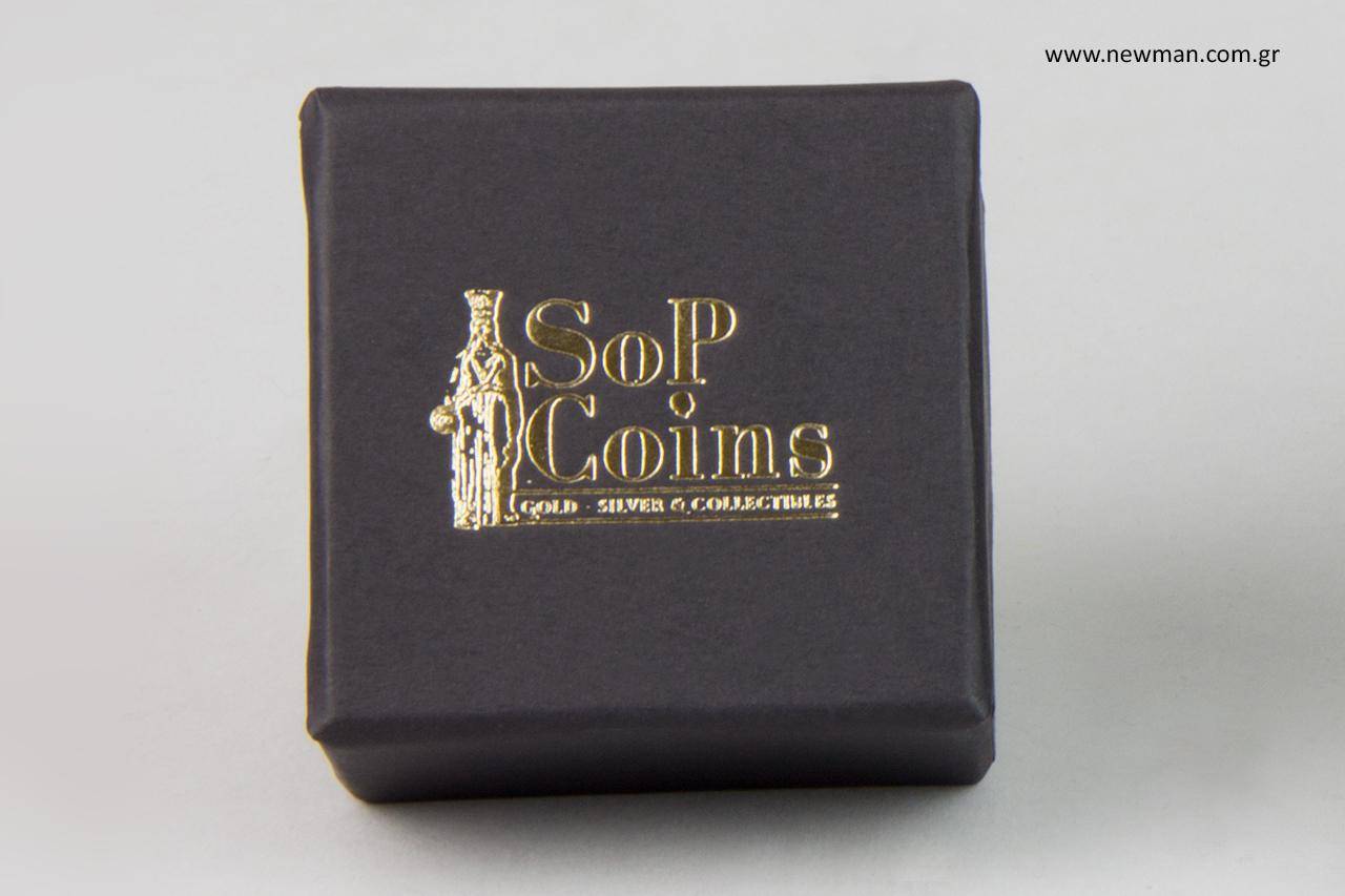 Χρυσοτυπία σε custom-made κουτιά για προϊόντα αξίας.