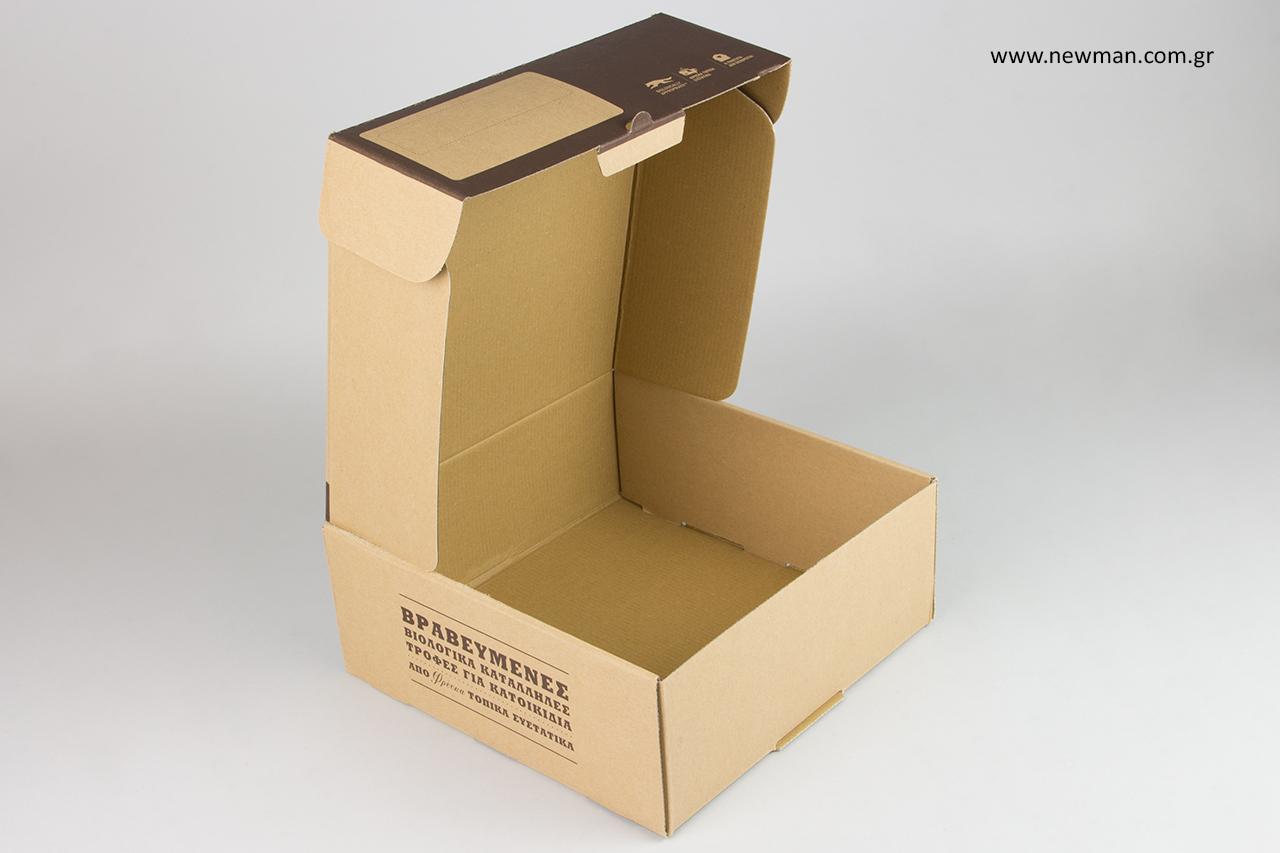 Σχεδιασμός και εκτύπωση συσκευασίας από την εταιρεία NewMan Packaging.