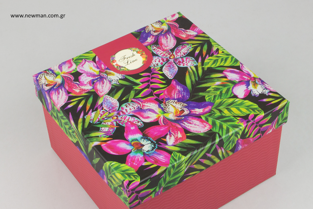 Τυπώνουμε ψηφιακά το δικό σας προσωποποιημένο κουτί στα χρώματα και σχέδια της επιλογής σας.