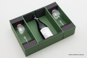 Μελέτη συσκευασίας κουτιών για μπουκάλια και ποτήρια από τη NewMan.