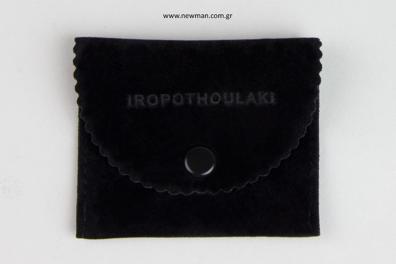 Iropothoulaki: Επώνυμα πουγκιά - θήκες με εκτύπωση σε βαθυτυπία.