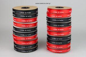 L'Atelier du Parfum: Τυπωμένες κορδέλες γκρο με μεταξοτυπία.