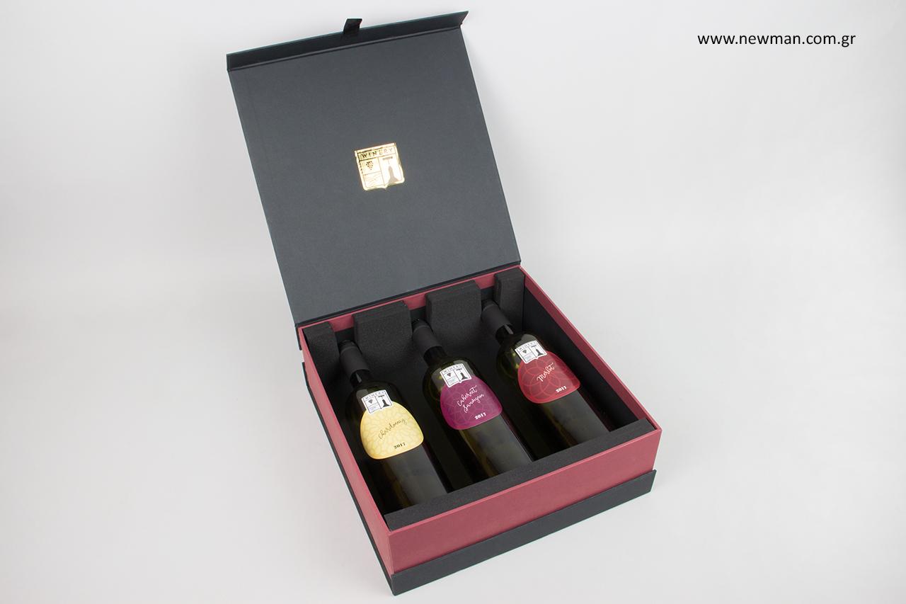 Μελέτη σχεδιασμού συσκευασίας κουτιών για μπουκάλια από την εταιρεία NewMan.