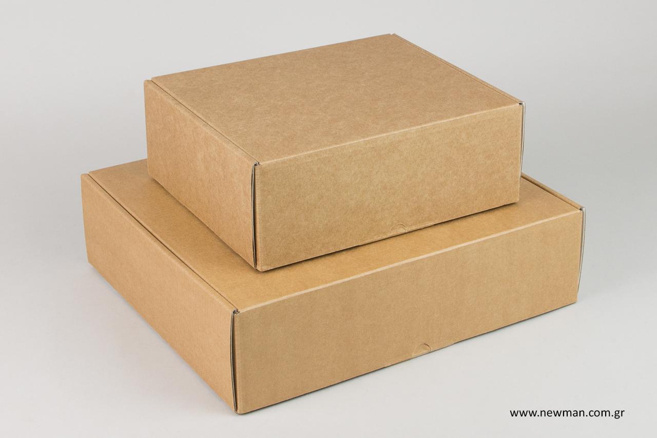 Ειδικός σχεδιασμός σε κουτιά ταχυδρομείου με εκτύπωση από τη NewMan Packaging.