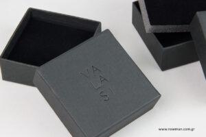 VALASI: Χειροποίητα κουτιά κοσμημάτων NewMan με λογότυπο.