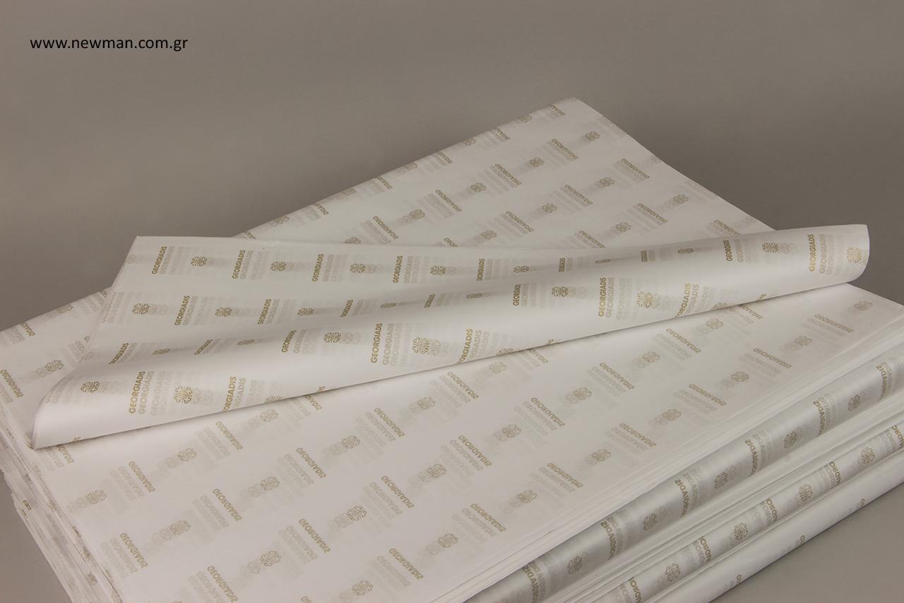 Προσωποποιημένο χαρτί αφής με εκτύπωση της αρεσκείας σας.