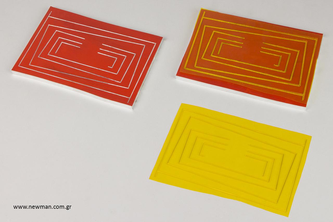 Κλισέ τσίγκινα για ανάγλυφη εκτύπωση σε συσκευασίες.