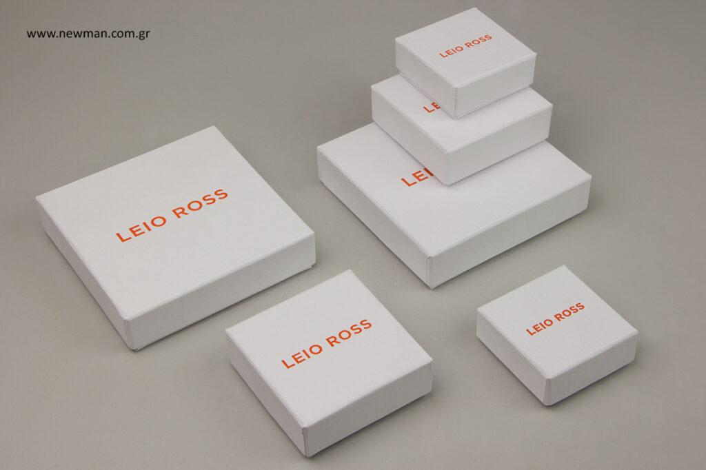 Leio Ross: Χάρτινο κουτί για κοσμήματα με τύπωμα.
