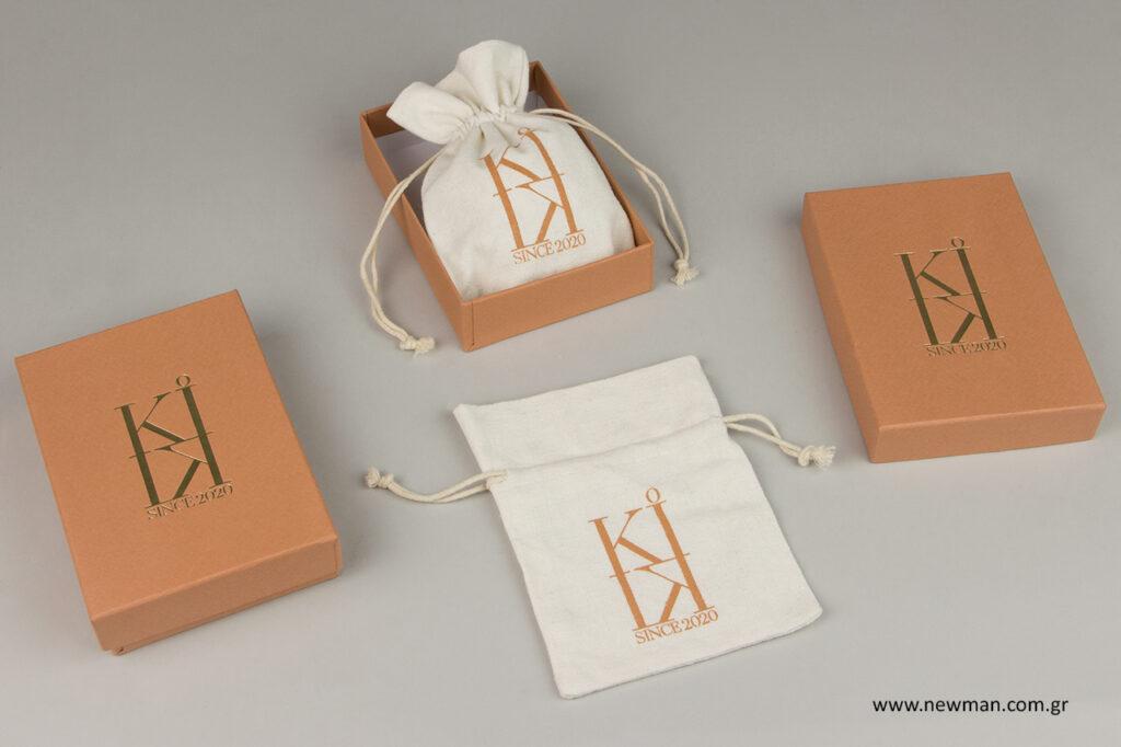 Kiki Jewels: Τυπωμένα είδη συσκευασίας κοσμημάτων.
