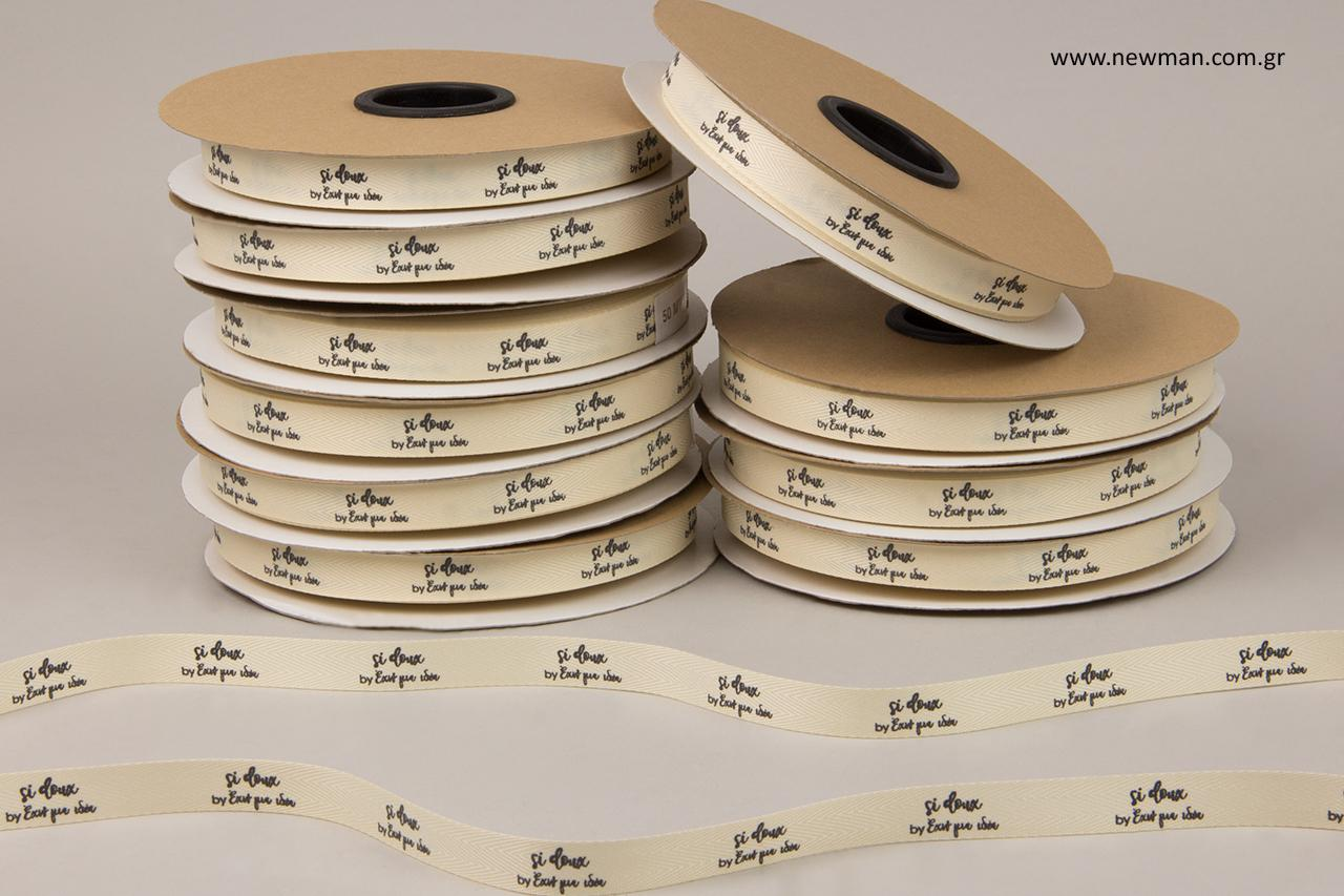 Si doux by exo 1 idea: Branded ribbons with printing.