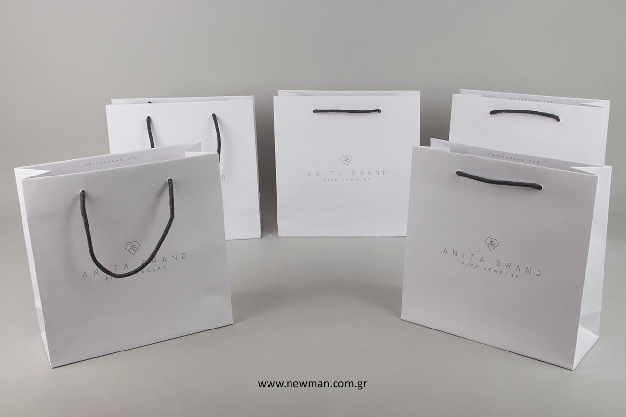 Τυπωμένες τσάντες Gofrato με λιθογραφική εκτύπωση.
