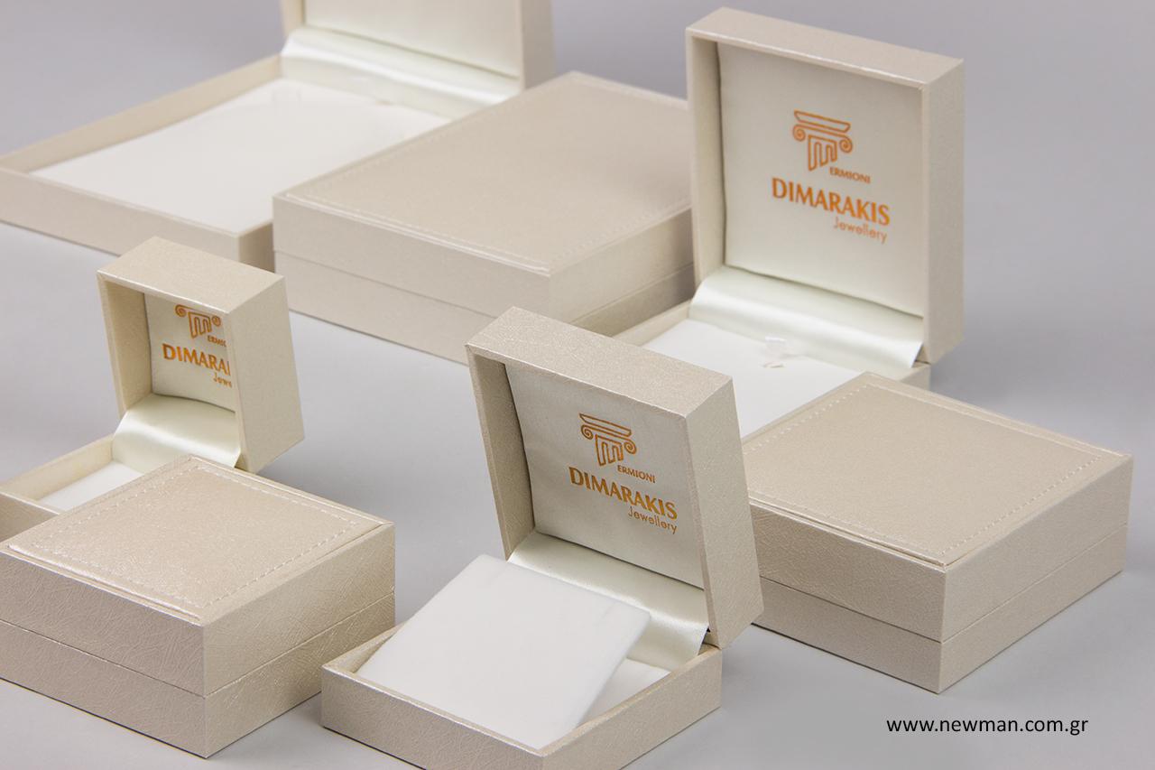 Μπρονζέ εκτύπωση σε κουτιά κοσμημάτων Newman.
