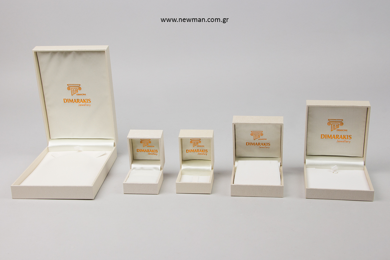 Κουτιά κοσμημάτων με εκτύπωση λογότυπου.