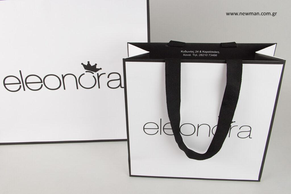 Eleonora μπουτίκ στα Χανιά της Κρήτης: NewMan τυπωμένες τσάντες καταστημάτων.