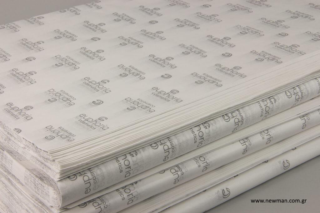 Euphoria Cosmetics: Χαρτί αφής για συσκευασία προϊόντων.