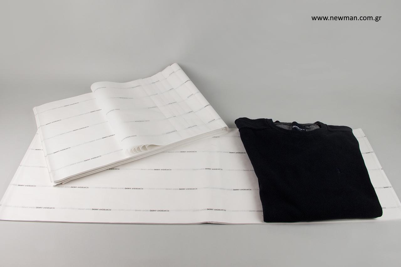 Εκτυπωμένο χαρτί αφής για ρούχα με λογότυπο.