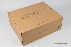 Caviar Cream: Τυπωμένα κουτιά αποστολών μέσω e-shop.