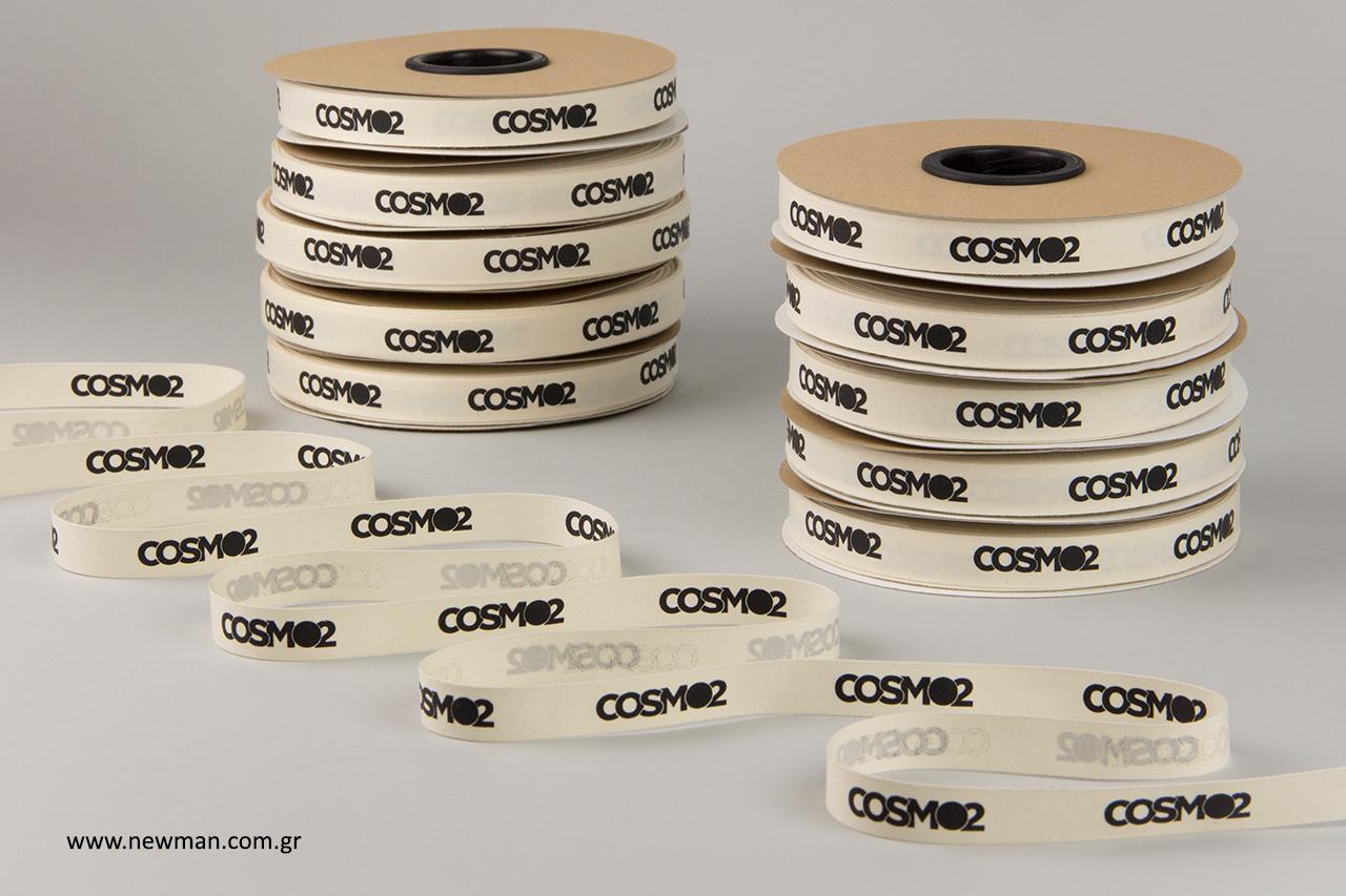 COSMO2: Τυπωμένη βαμβακερή κορδέλα με επωνυμία.