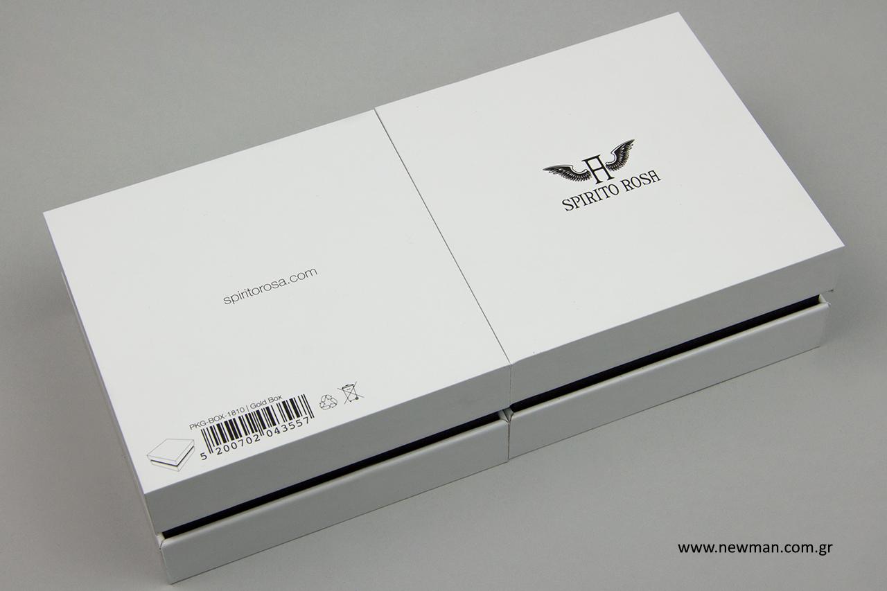 Κουτί για κόσμημα σε λευκό και μαύρο.
