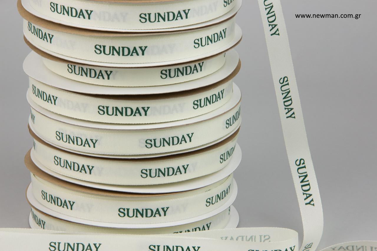 Sunday: Τυπωμένες κορδέλες γκρο από την εταιρεία συσκευασίας NewMan.