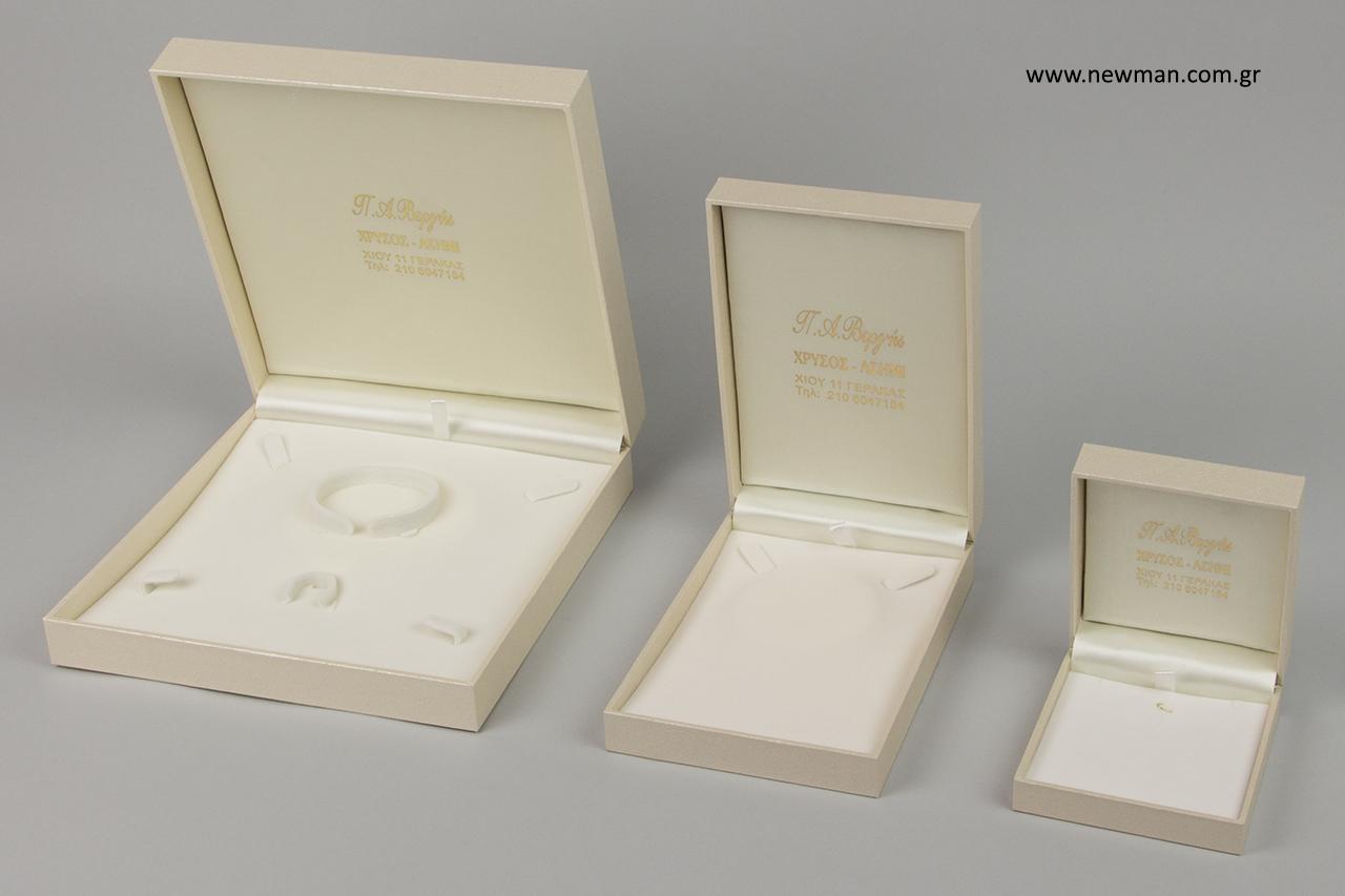 CTK Δερμάτινη σειρά κοσμημάτων με χρυσοτυπία.