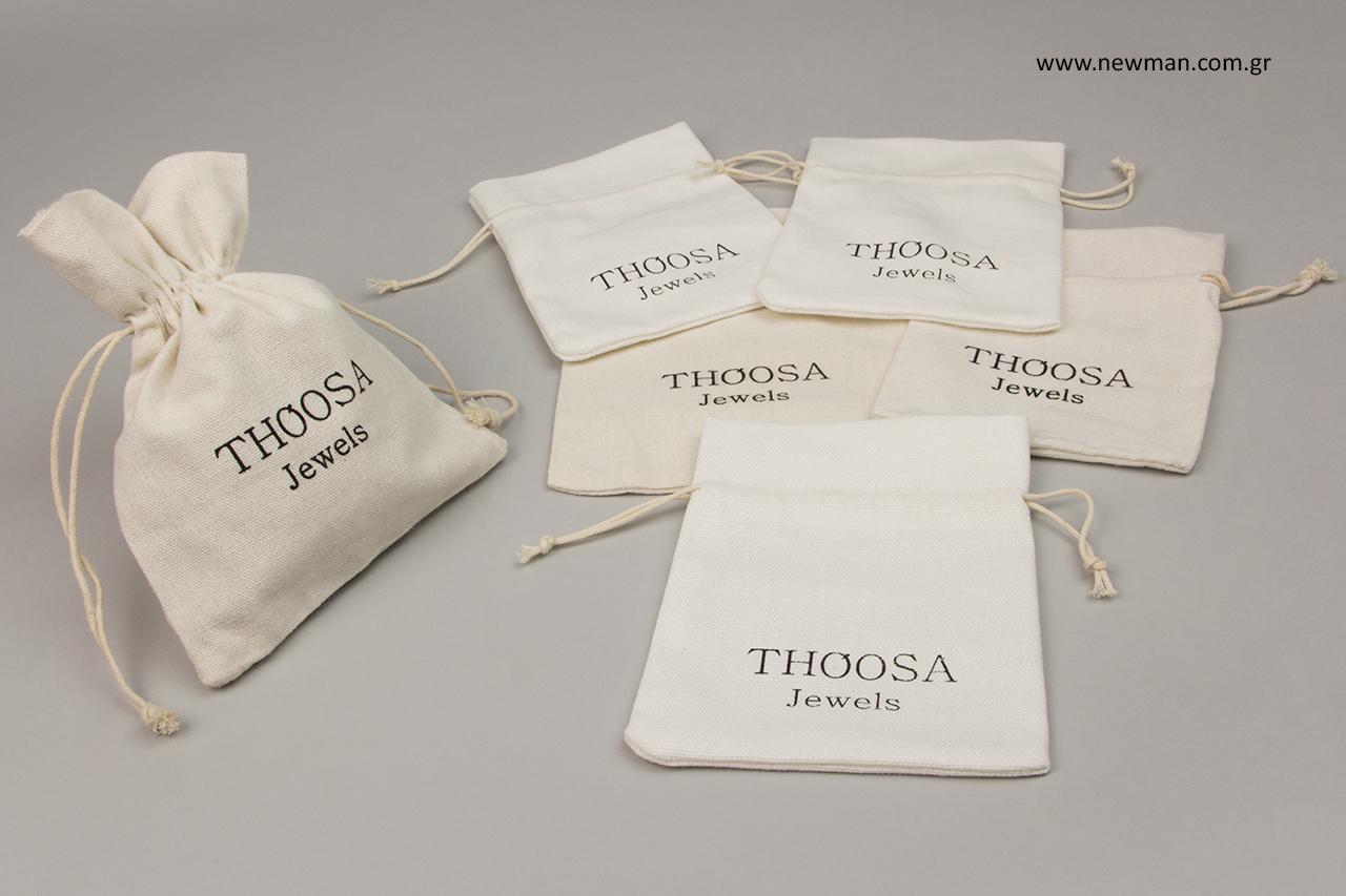 Thoosa: Τυπωμένα πουγκιά κοσμημάτων από ύφασμα.