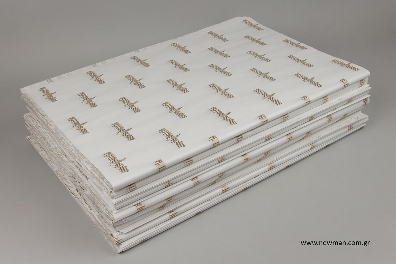 Τυπωμένο χαρτί αφής με φλεξογραφία.