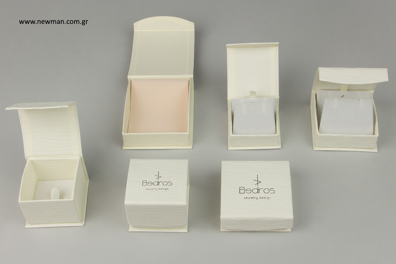 Τύπωμα επωνυμίας καταστήματος σε κουτί για κόσμημα.