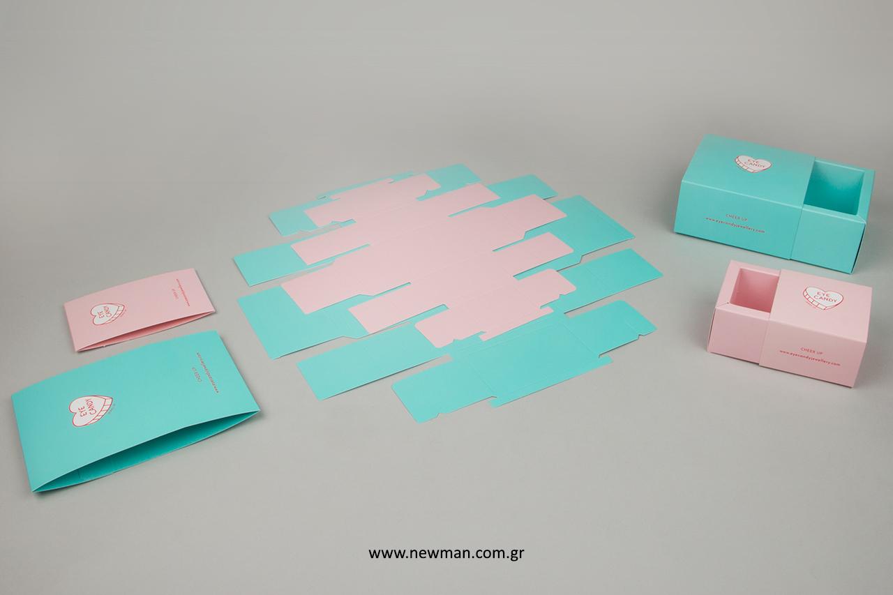 Κουτιά που συναρμολογούνται για την τοποθέτηση κοσμημάτων.