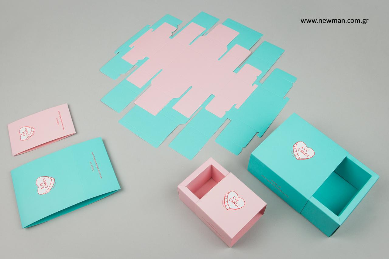 Εκτύπωση εταιρικού λογότυπου σε κουτιά χονδρικής.