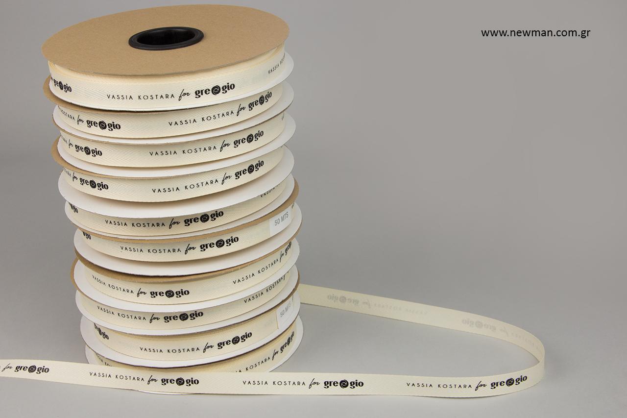 Επώνυμες κορδέλες χονδρικής με εκτύπωση.
