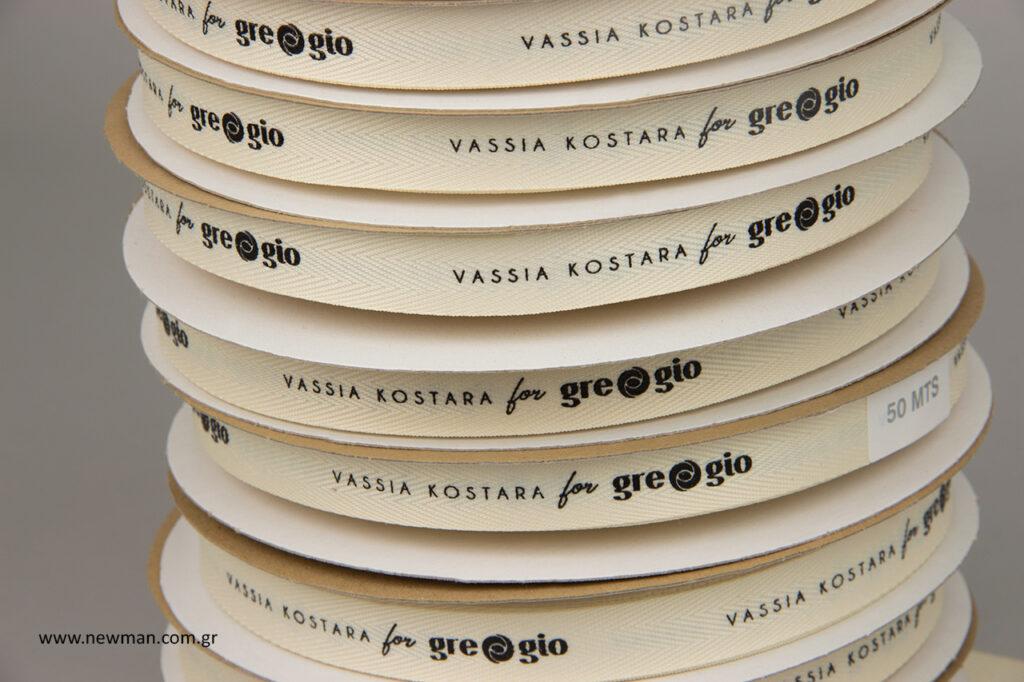 Vassia Kostara For Gregio: Κορδέλες για τα κοσμήματα της Βάσιας Κωσταρά με το κατάστημα Gregio.