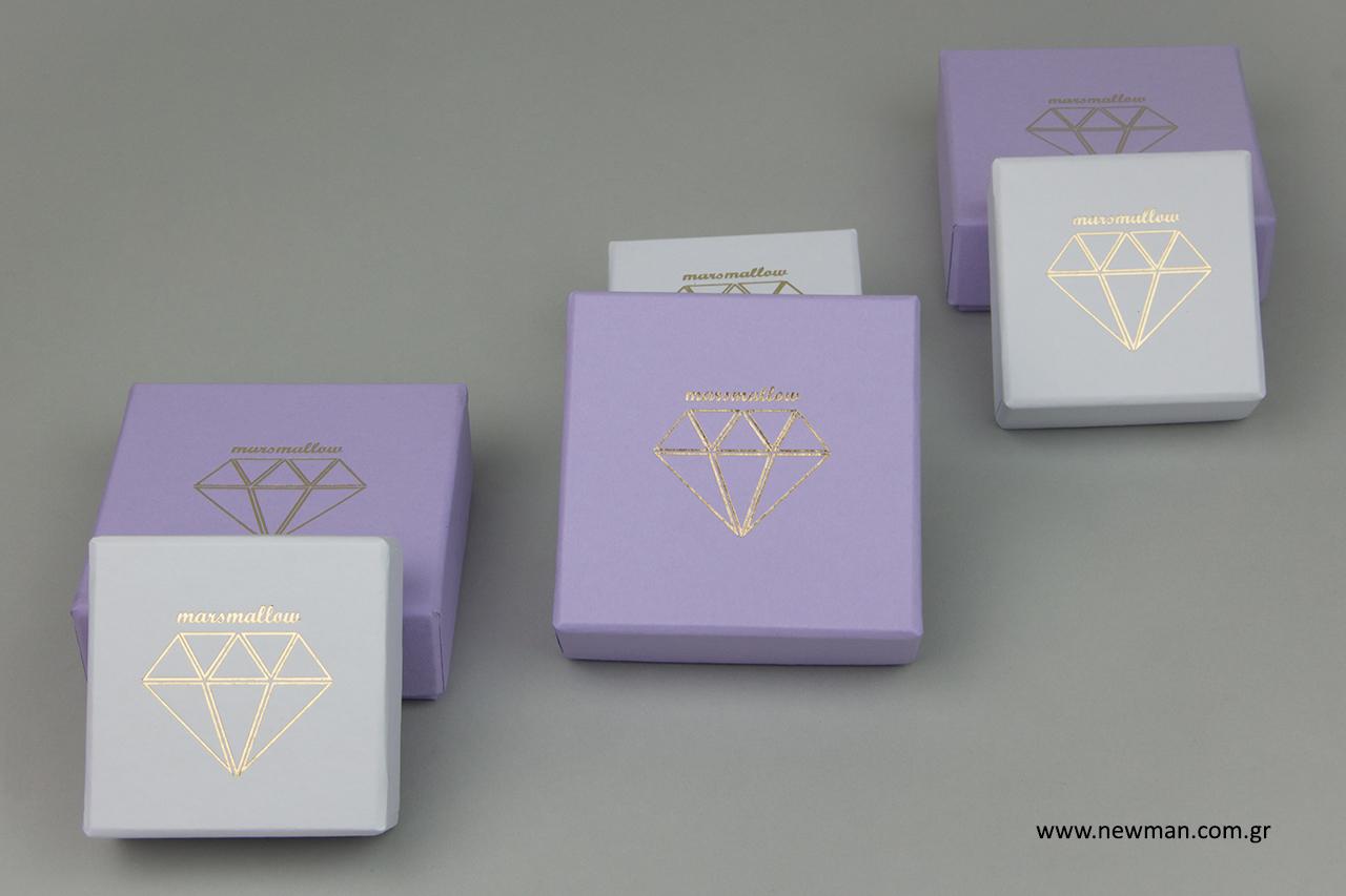 Χειροποίητα τυπωμένα κουτιά για κοσμήματα NEWMAN.