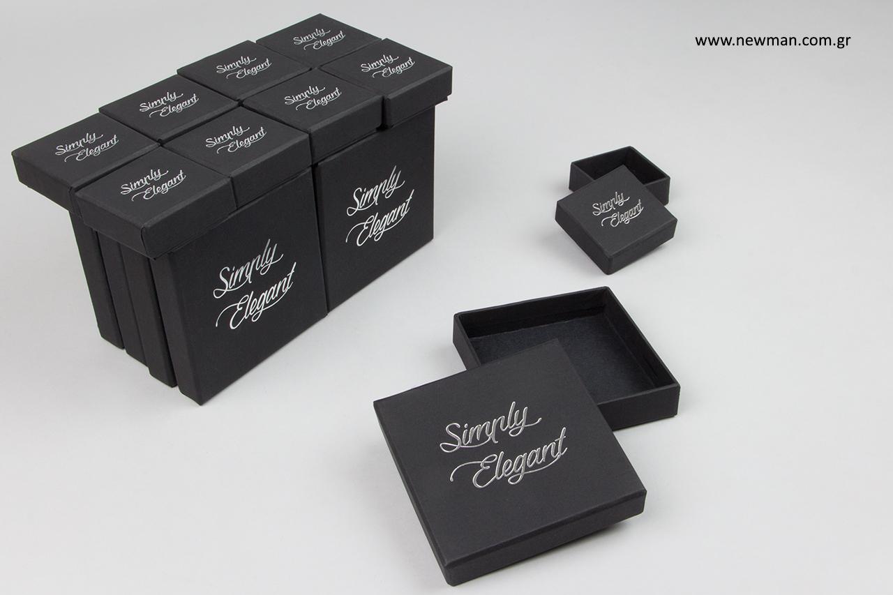 Εταιρική επωνυμία σε κουτιά συσκευασίας χονδρικής.