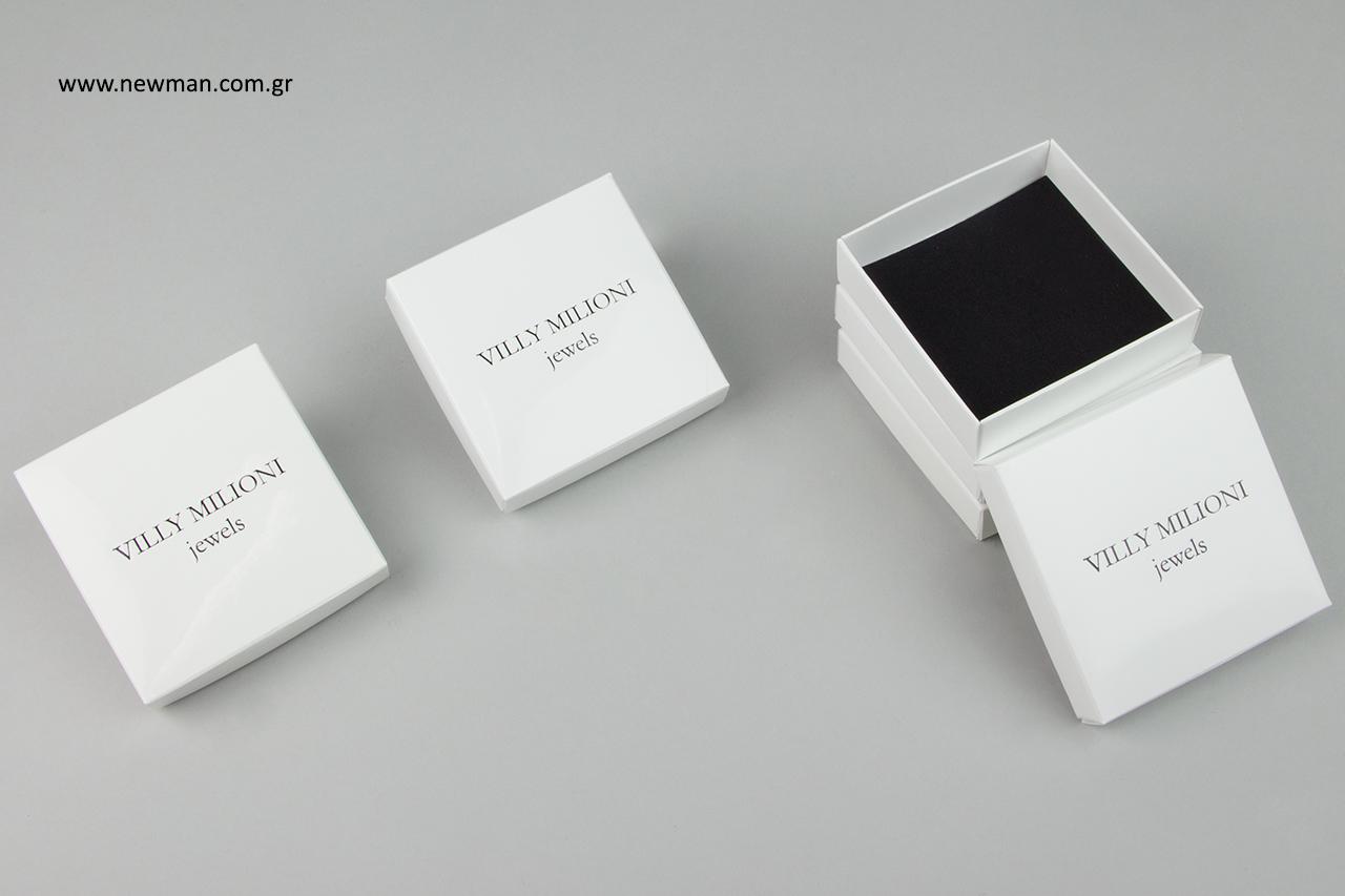 Εταιρική επωνυμία σε τυπωμένα κουτιά χονδρικής.