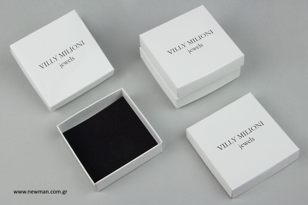Villy Milioni: Εκτυπώσεις επώνυμων κουτιών για μπιζού.
