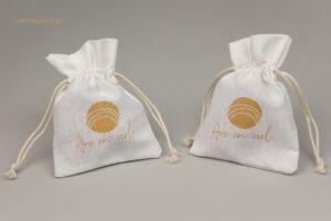 Arc En Ciel: Βαμβακερά πουγκιά με χρυσή εκτύπωση.