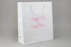 Marshmallow kid's concept Νάξος: Επώνυμες τσάντες χονδρικής με εταιρικό τύπωμα.