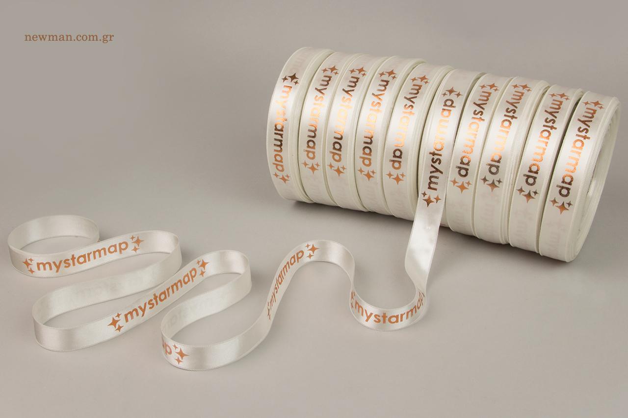 Επώνυμες κορδέλες συσκευασίας με τύπωμα.